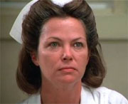"Nurse Ratched in  ""One Flew Over The Cuckoo's Nest"""